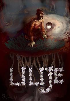 Plakat wykonany przez zainspirowaną spektaklem ilustratorkę Dianę Borowską