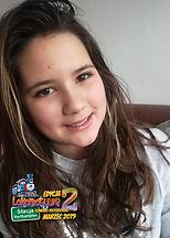 """Sofia, lat 11 z wierszem """"Wacky Ducky"""" (""""Kaczka Dziwaczka"""") Jana Brzechwy"""