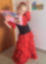 """Nadia, lat 6 zfragmentem bajeczki """"Pchła Szachrajka"""" Jana Brzechwy"""