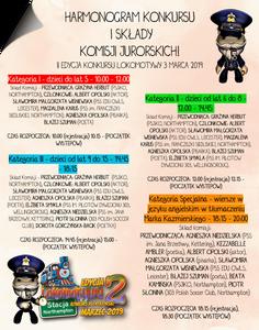 II Edycja Konkursu Lokomotywy - Harmonogram występów i składy Komisji