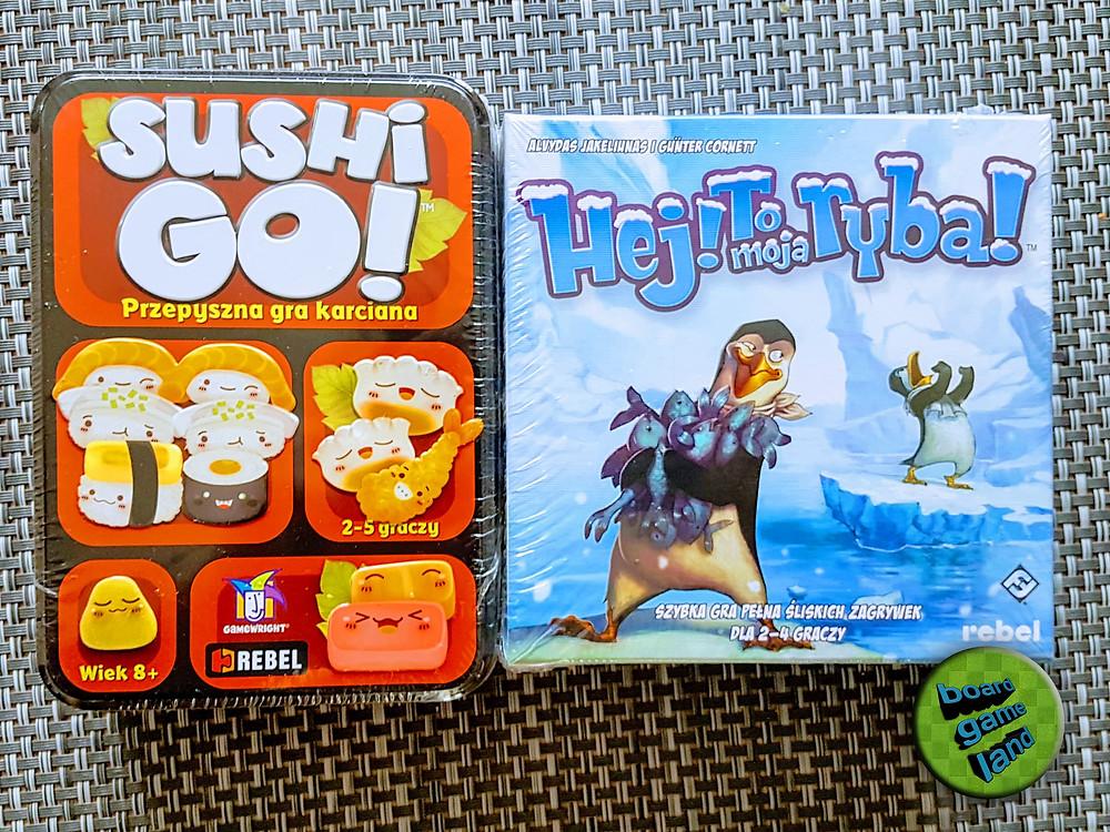"""""""Sushi! Go"""" i """"Hej! To moja ryba!"""" - gry ufundowane przez Board Game Land!"""