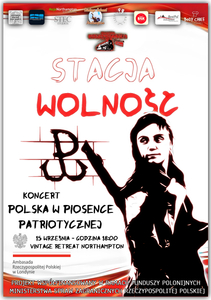 Stacja Wolność - Polska w piosence patriotycznej - plakat