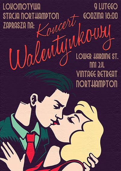 Plakat - Koncert Walentynkowy Lokomotywy