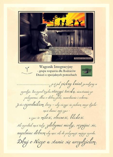 Motywacyjne dyplomy, które wręczyliśmy Dzieciom i Rodzicom z pięknym tekstem pani Anety Mielec z Pracowni Bliskości