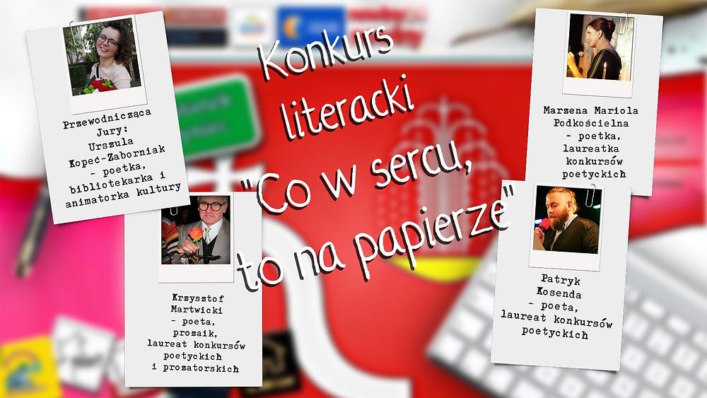 """Przedstawiamy Jurorów konkursu literackiego """"Co w sercu, to na papierze"""" z Polski!"""