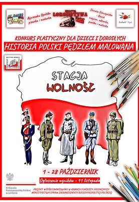 """Konkurs Plastyczny - """"Historia Polski Pędzle Malowana"""" - plakat 1"""