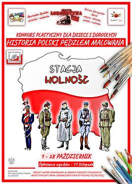 Stacja Wolność - Historia Polski Pędzlem Malowana (plakat 1)