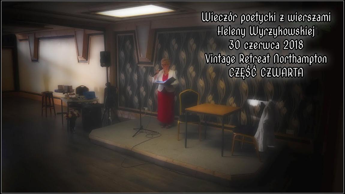 Wieczór z poezją Heleny Wyrzykowskiej - Część 4 (skrót)