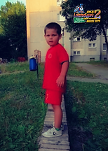 """Kacper, lat 4 z wierszem """"Abecadło"""" Jana Brzechwy"""