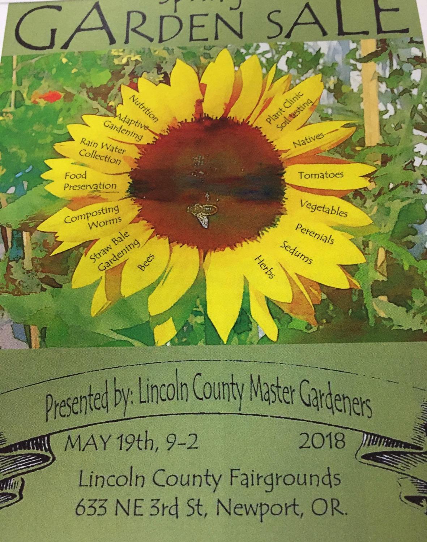 2018 Plant Sale Poster
