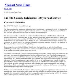 Newport News Times Centennial article hi