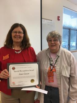 Ann Geyer Special Recognition Award 2016