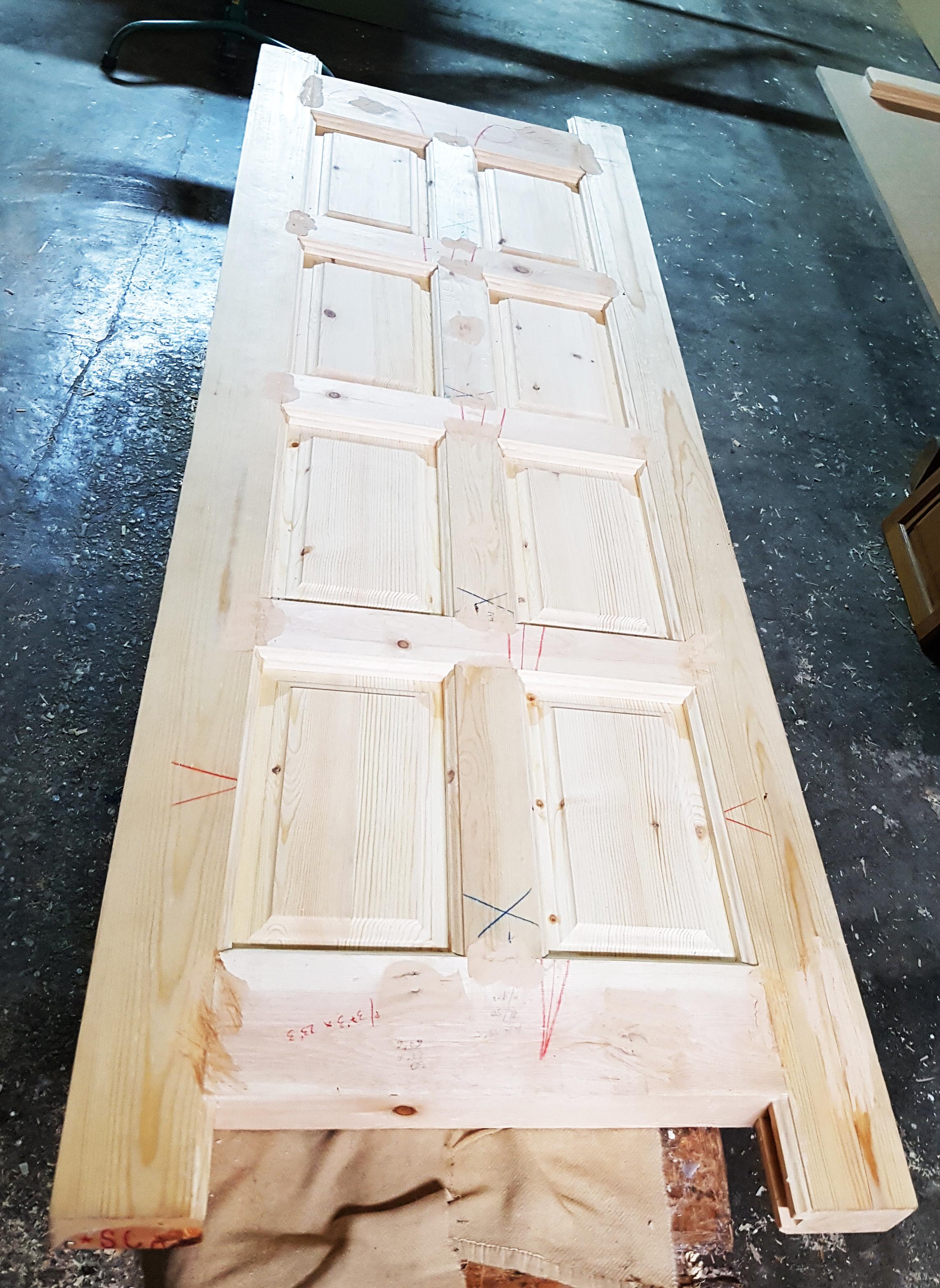 Puerta madera natural