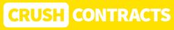CrushContracts horizontal white logo