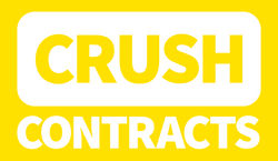 CrushContracts Logo White Stacked