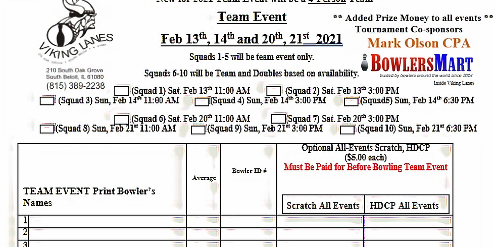 All Events Entry