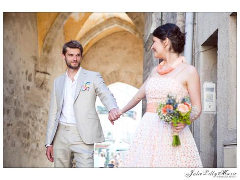 Olga & Cédric, leur union en couleurs pastelles ! - 21.06.2014