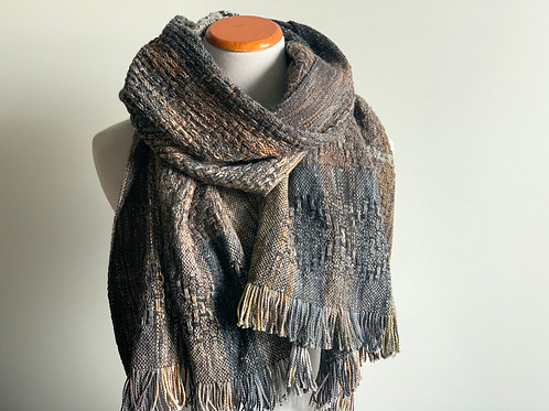 FIRESIDE HUCK SCARF #1 (with clasps)