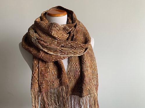 HUCK SCARF - BRONZE THICK COTTON WEFT