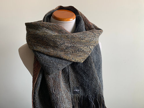 HEARTH SCARF - CHARCOAL WEFT