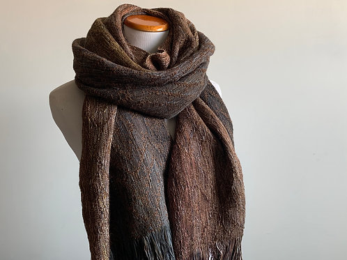 HEARTH SCARF - BROWN WEFT