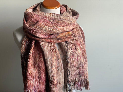 BLUEBERRY SCARF - RUSTY COTTON WEFT