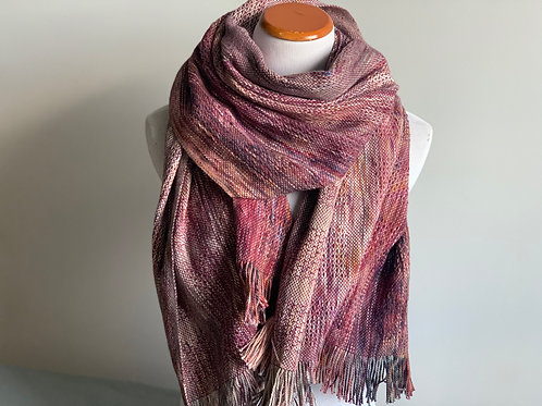 BLUEBERRY SCARF - BERRY ALPACA/SILK WEFT