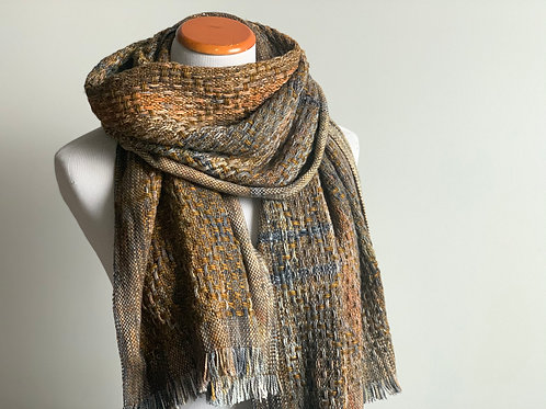 FIRESIDE HUCK SCARF #6 (with clasps)