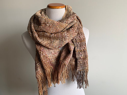 HUCK SCARF - ROSE THICK COTTON WEFT