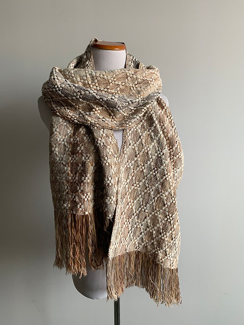 HUCK SCARF SAMPLE - THICK COTTON WEFT