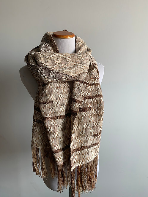 HUCK SCARF - THICK COTTON WEFT & CLASPS