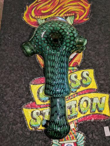 Firekist snake skin spoon.
