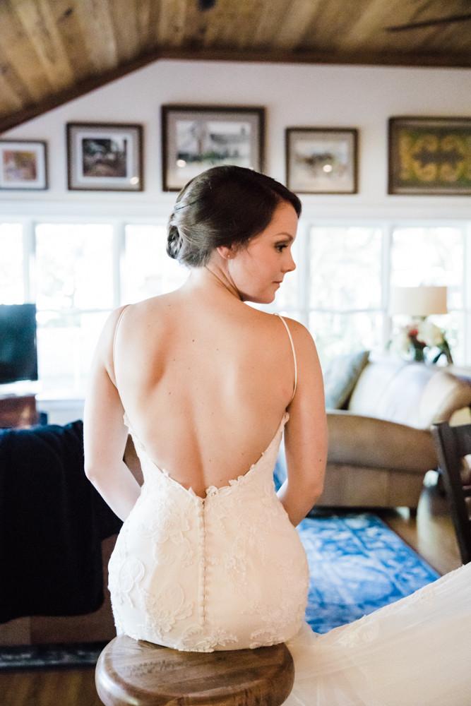 open back wedding dress Jessica Hilton Portland Oregon Wedding Photographer