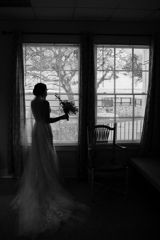 bride silhouette Jessica Hilton Portland Oregon Wedding Photographer