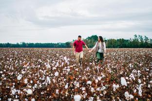 engaged couple cotton feild-2.jpg