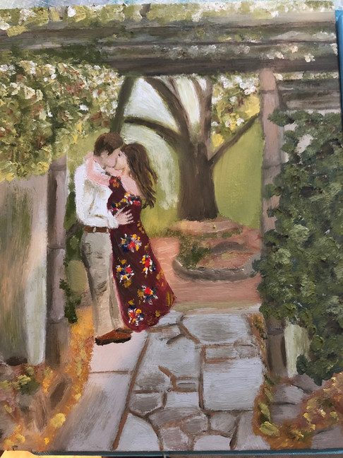"""Oil painting - """"The Kiss"""""""