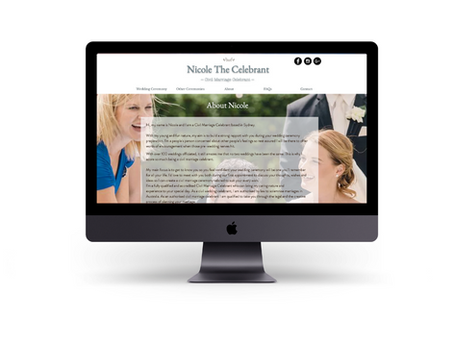 Website Content & SEO - A case study on redesigning Nicole the Celebrant's website