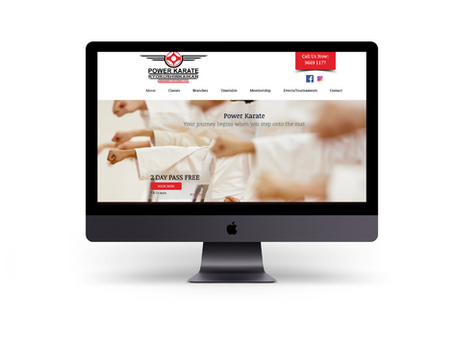 Creating a new website for Power Karate