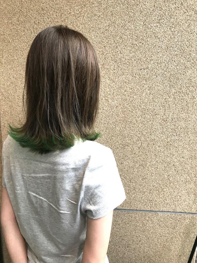 裾カラー グリーン