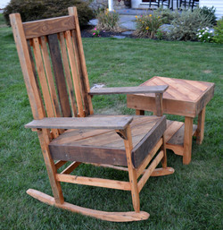Grandma's Rocking Chair & Side Table