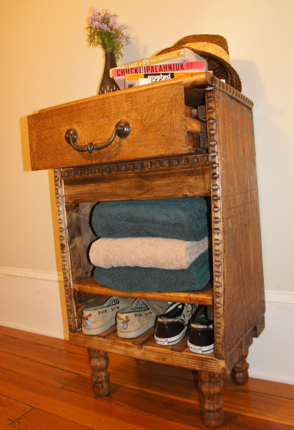 Hall Side Table w/ Shoe Rack