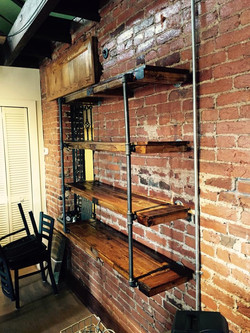 Rustic Shelves on Piping