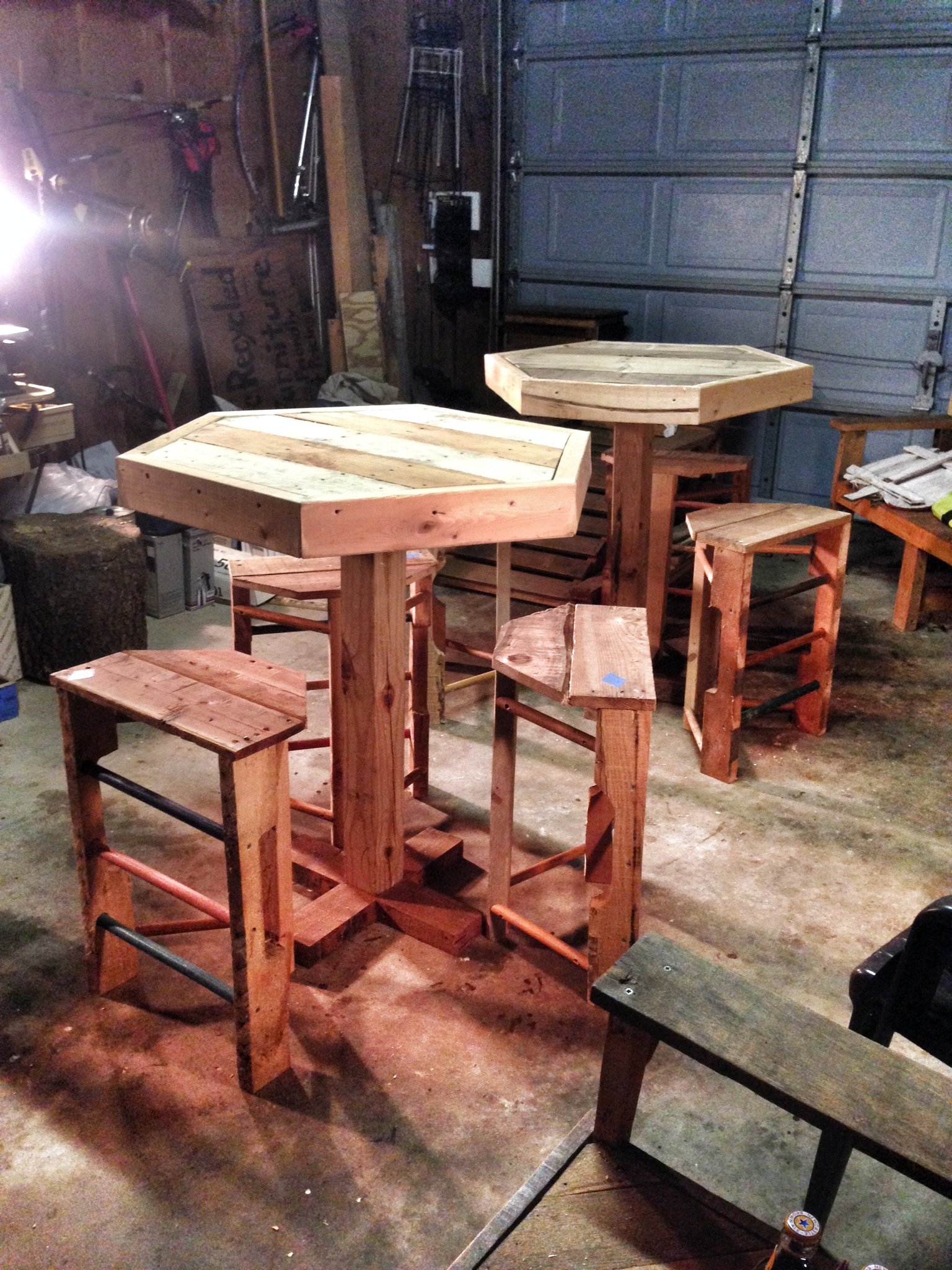 Pub Tables with Stools