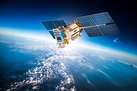 Space satellite orbiting the earth. Elem