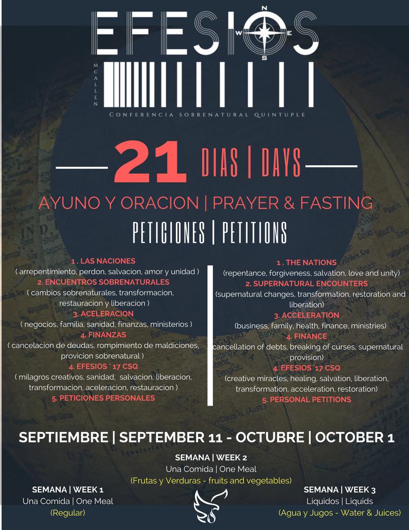 21 DIAS AYUNO | DAYS FASTING