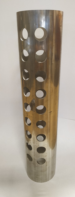 3 Inch Round, 16ga wall perforated tube