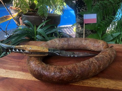 Kiełbasa wiejska     - Smoked Polish sausage - Sosis Polandia asap