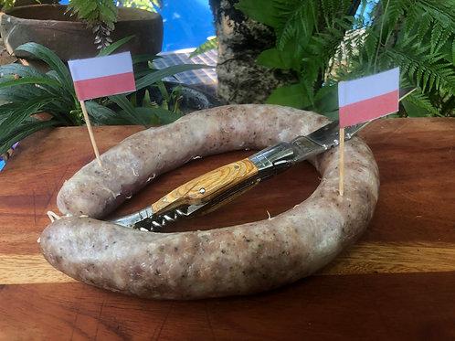 Kiełbasa wiejska     - Not-smoked Polish sausage - Sosis Polandia tidak asap