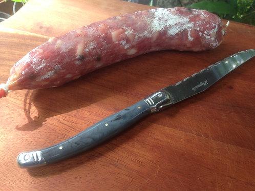 Saucisson sec pur porc - Pure pork dry saucisson - Saucisson babi kering