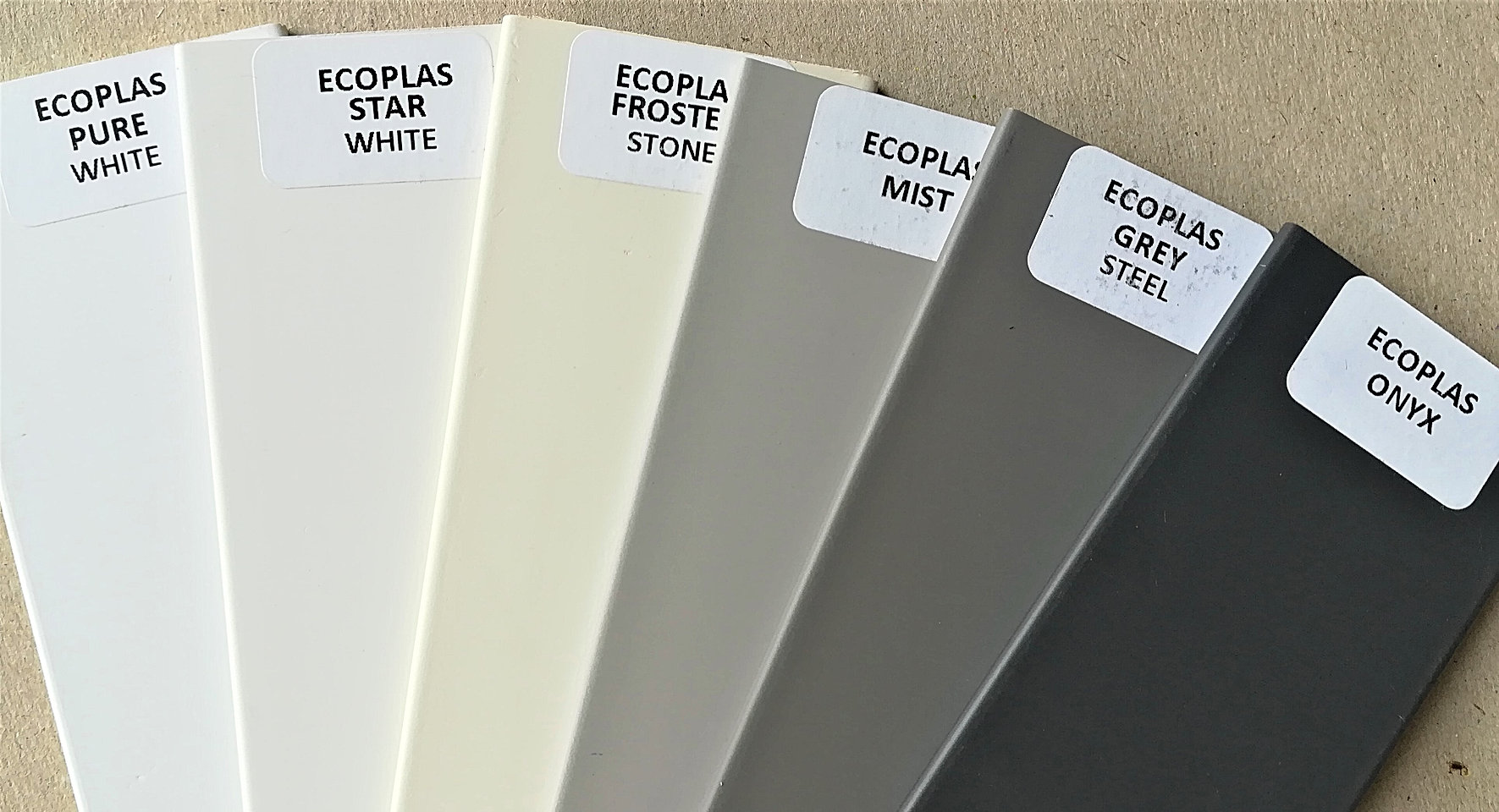 Sasmples for Ecoplas Venetian Blinds. - Blind Specialist